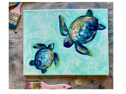 Sea Turtles Paint Class - Perry