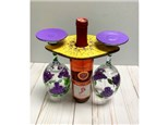 Wine Glass Holder and Glasses