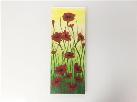 Pretty Poppies (adult) Canvas Class