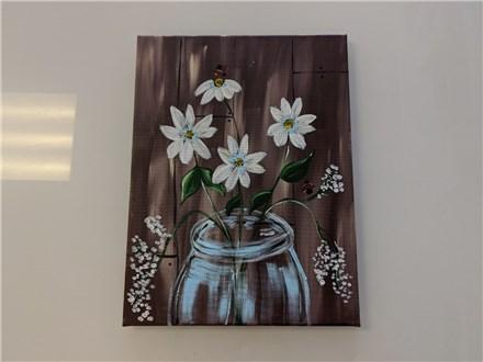 Rustic Daisy Adult Canvas Class $35
