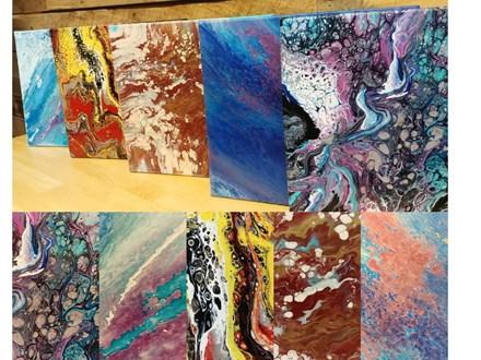 Adult Acrylic Dirty Pour Canvas Class - June 1st