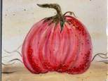 Pink Pumpkin Canvas & Resin Art