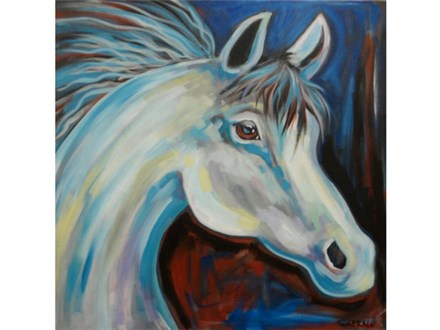 Horse - larger canvas 24x24  *seating limited