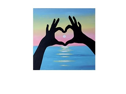 Sunset Love - Canvas - Paint and Sip