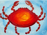 Coastal Crab (Ages 6+) One canvas per person. Option to paint a blue crab. Please specify on registration.