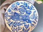 Folk Art Rabbit Ceramic Bowl Class