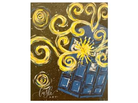 Exploding Tardis Paint Class