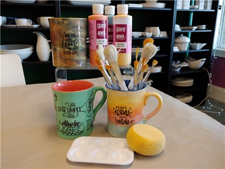 Galentines Day Event- Dirty Dishes Pottery Painting