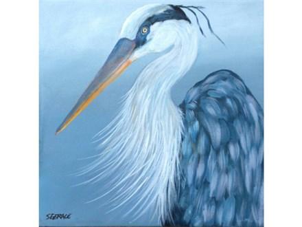 Blue Heron - canvas size 12x12