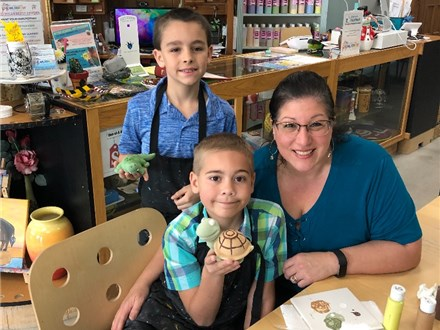 March-Reserve Sunday family/group pottery painting up to $20.00 off! choose time 12:30-3:30