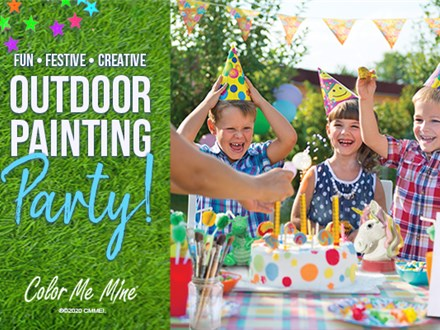 Outdoor painting party!