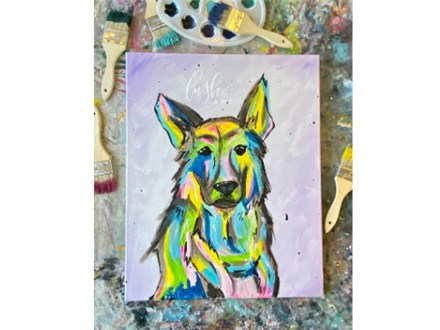 Colorful Pup Paint Class