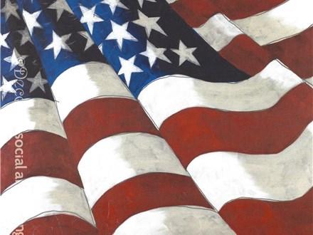 American Flag Canvas Nov. 11