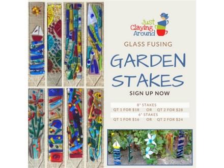Adult Garden Stakes Glass Fusing Class 06/07