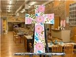 May 15th Floral Cross Door Hanger