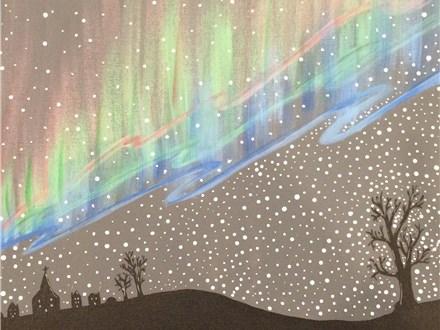 "Canvas Night, ""Northern Lights,"" November 21st 7-10pm"