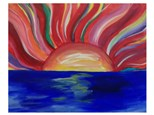 Abstract Sunrise - Paint & Sip - July 8