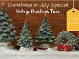 Christmas in July - Vintage Light up Christmas Tree/Wreath