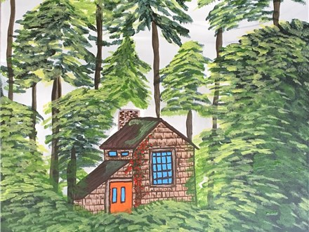 "Canvas Night ""The Summer Cottage"" Saturday, July 9th from 7-10p"
