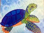 Adult Canvas Night August 28th - Sea Turtle