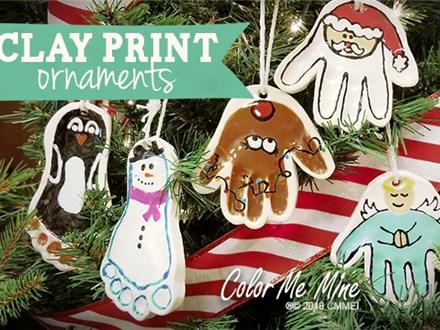 Clay Handprint Ornaments