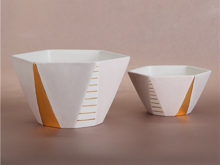 """"""" large Geometric Bowl"""" To-Go Kit-  at Color Me Mine - Aspen"""