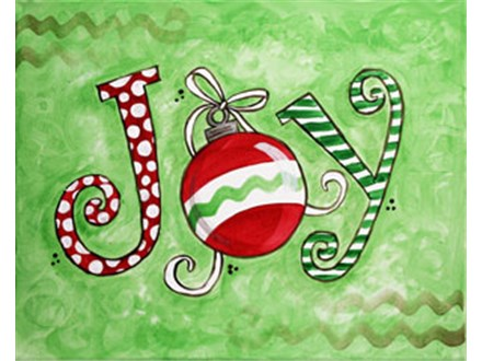 Canvas & Wine Night!  Christmas Joy!  12/19/16
