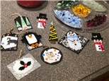 Make Fused Glass Ornaments! Free Instruction! Wednesday's starting Nov.28, Dec. 5, 12 & 19th