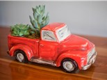 Truck Planter Painting+Succulent Garden Wine&Design-2 Part Event (KerrKreations+TheClayCup)