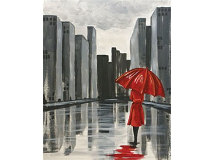 """The Red Umbrella"" Canvas Class, September 22nd"
