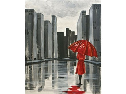 """The Red Umbrella"" Canvas Class, March 20th"