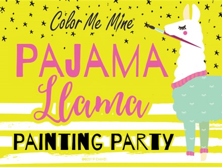 Apr 28th • Pajama Llama Painting Party • Color Me Mine Aurora