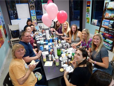 Reservation Sunday family/Group pottery painting up to $20.00 off! choose your time 12pm till 3pm