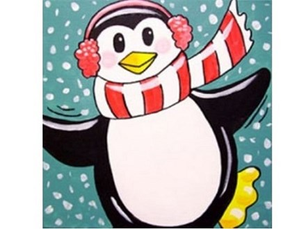 Kids' Canvas Pizza Party!  Perky Penguin! 11/21/17