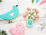 Mother's Day Cookie Decorating with Cotton Flour Cookies