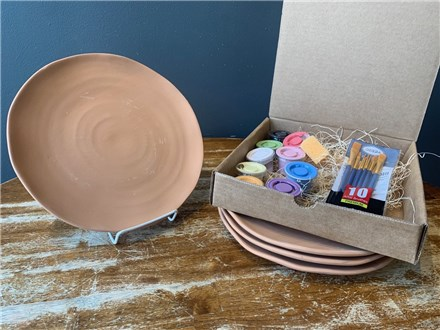 PoGo Kits: Paint Your own Pottery ToGo! (Terra Cotta Plate(s))