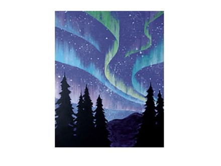 Northern Lights - Canvas - Paint and Sip