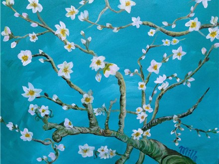 """Canvas Night, """"Almond Blossoms,"""" May 20th 7-10pm"""