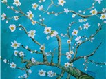 "Canvas Night, ""Almond Blossoms,"" May 20th 7-10pm"
