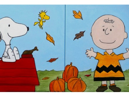 Class for couples and singles - paint your choice 'Snoopy or Charlie Brown' (12x12 canvas)