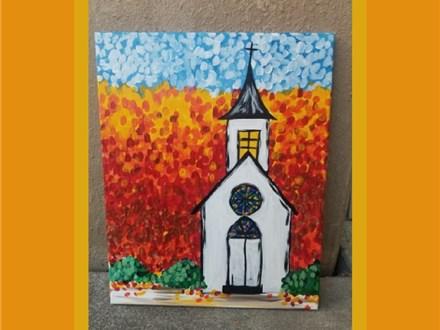 Nov. 24th Fall Church Canvas Class