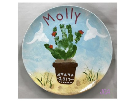 Mommy/Daddy & Me - Catus Plate 08/22