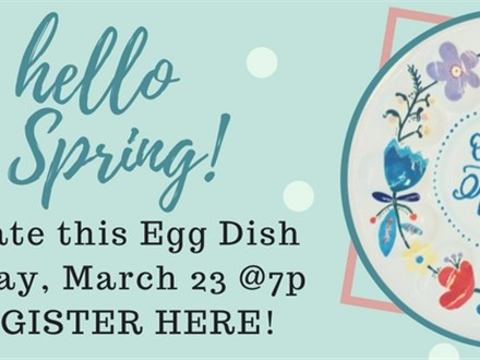 Oh Hello Spring!  Pottery, Paint, & Wine event 3/23 @ The Pottery Patch