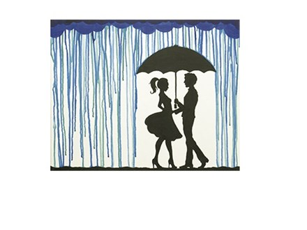 Meet Me In The Rain Canvas and Cocktails