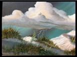 Oil: Guest Artist: Lightning Storm at Padre 03/06
