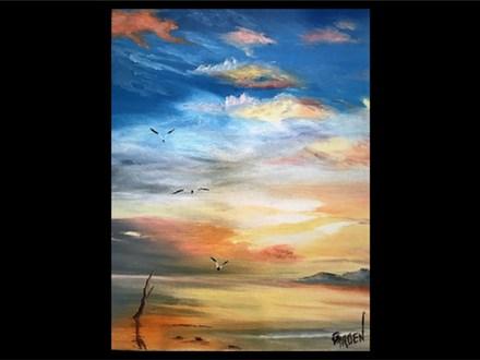 07/17 Oil: Cloudscape Over the Gulf 6:30 PM $45