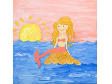 Summer Kids' Canvas Class! Mermaid! 6/28/19