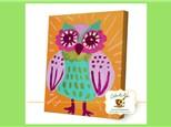 Kids Canvas Class - Retro Owl - Friday, October 19