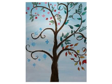 Tree of Seasons - Paint & Sip - Jan 19