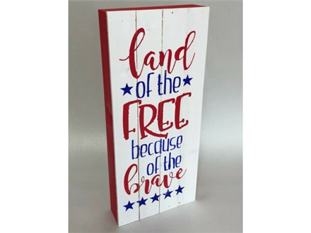 Land of The Free Home of the Brave Wood Painting 06/19